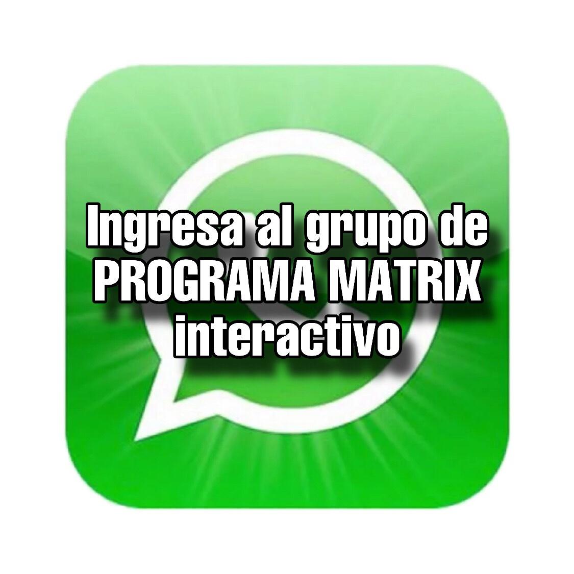 Ingresa al grupo de PROGRAMA MATRIX interactivo